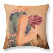 Young Girl Young Woman Throw Pillow