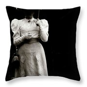 Young  Lady Shady Throw Pillow