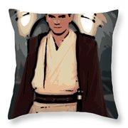 Young Obi Wan Kenobi Throw Pillow