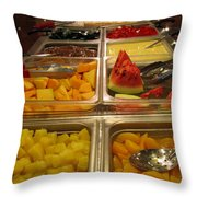 Your Choice Of Fruit Throw Pillow by Ausra Huntington nee Paulauskaite