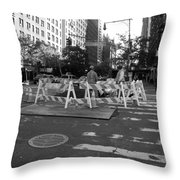 Your Tax Dollars At Work In Black And White Throw Pillow