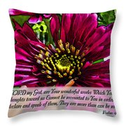 Your Wonderful Works Throw Pillow