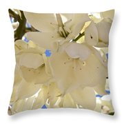 Yucca Flowers 3 Throw Pillow
