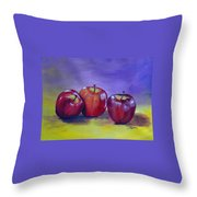 Yummy Apples Throw Pillow