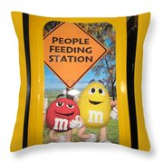 Yummy M And M's Throw Pillow