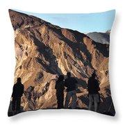Zabriske Sunrise Watchers Throw Pillow