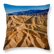 Zabriskie Point Badlands Throw Pillow