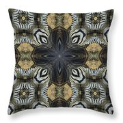 Zebra Cross II Throw Pillow