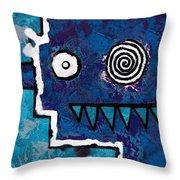 Zeeko - Blue And Aqua Throw Pillow