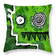 Zeeko - Green Throw Pillow