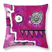 Zeeko - Pink Throw Pillow