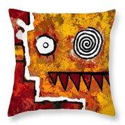 Zeeko - Red And Yellow Throw Pillow
