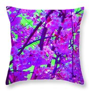Zen Blossoms Throw Pillow