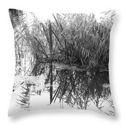 Zen Pond Throw Pillow