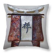 Zen Vessel - Med Throw Pillow