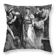 Zenobia (d. After 274 A.d.) Throw Pillow