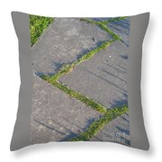 Zig-zagging Throw Pillow