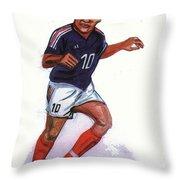 Zinedine Zidane 01 Throw Pillow