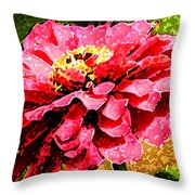 Zinnia Blast Throw Pillow