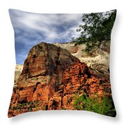 Zion As Water Color Throw Pillow