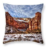 Zion Canyon In Utah Throw Pillow