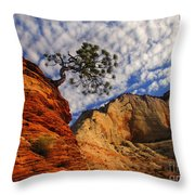 Zion Lone Tree Throw Pillow