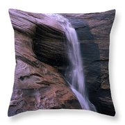 Zion Summer Waterfall Throw Pillow