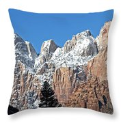 Zion Towers Throw Pillow