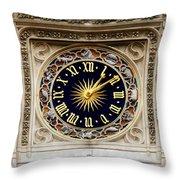 Zodiac Clock Throw Pillow