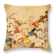 Zodiac Signs From Indian Manuscript Throw Pillow by Science Source