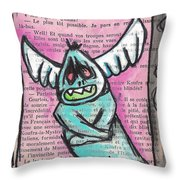 Zomb-angel Throw Pillow