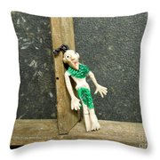 Zombie At The Window Throw Pillow