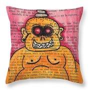 Zombie Buddha Throw Pillow