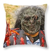 Zombie With A Heart Throw Pillow