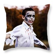 Zombiefied Throw Pillow