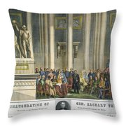 Z.taylor: Inauguration Throw Pillow by Granger