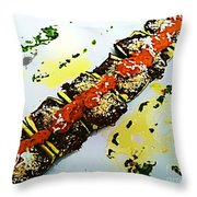 Zucchini Bowls Throw Pillow
