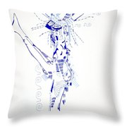 Zulu Dance  South Africa Throw Pillow