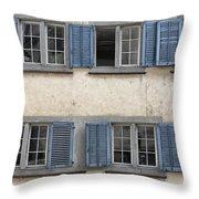 Zurich Window Shutters Throw Pillow