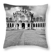 Zwinger Dresden Rampart Pavilion - Masterpiece Of Baroque Architecture Throw Pillow