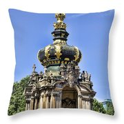 Zwinger Palace Crown Gate Throw Pillow