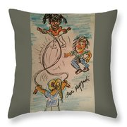 A Child's Play Time Throw Pillow