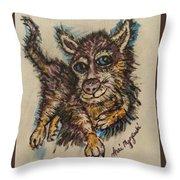 Blue Eyed Husky Throw Pillow