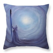 ---das Licht In Der Hand--- Throw Pillow