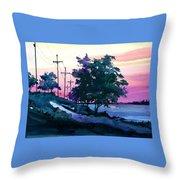 Evening Coast Throw Pillow