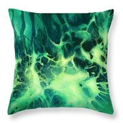 ' Garden Of Light ' Throw Pillow