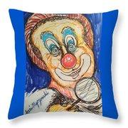 Happy Clown Throw Pillow