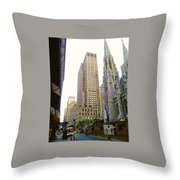 50th Street Throw Pillow