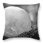 A February Bubble Throw Pillow