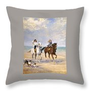 A Ride By The Sea Throw Pillow